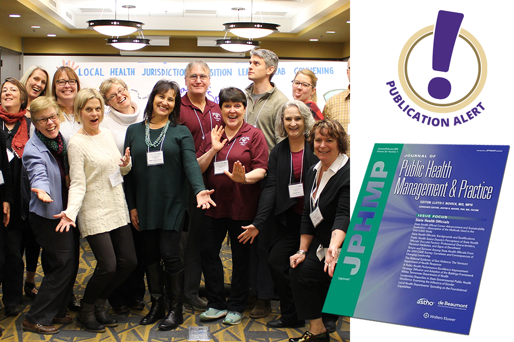 Photograph of Learning Lab participants with a journal cover superimposed.