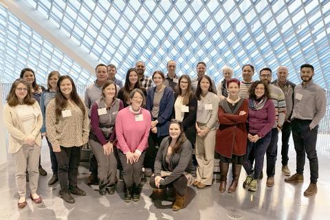 Photograph of Institute scholars.