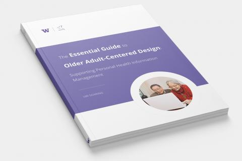 Image showing a print copy of the Guide to Older Adult-Centered Design