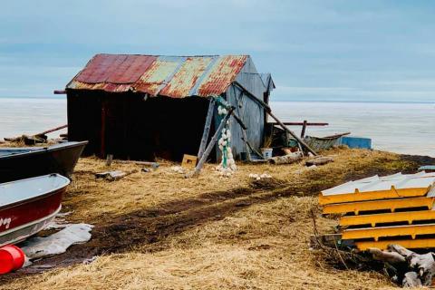 cabin on Alaskan coast
