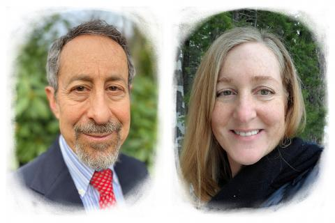 Photographic portraits of Gary Goldbaum and Jana Bardi.