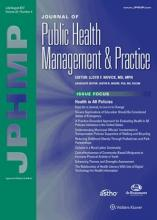 Photograph of the May/June 2017 JPHMP cover.