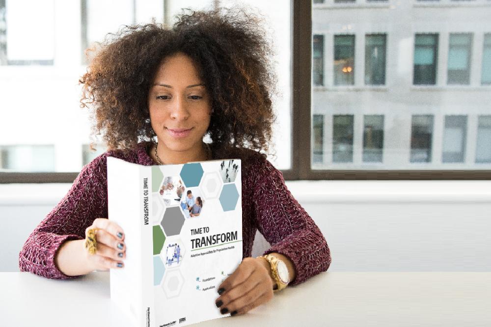 Woman reading toolkit