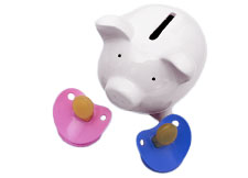 Photograph of a piggy bank.