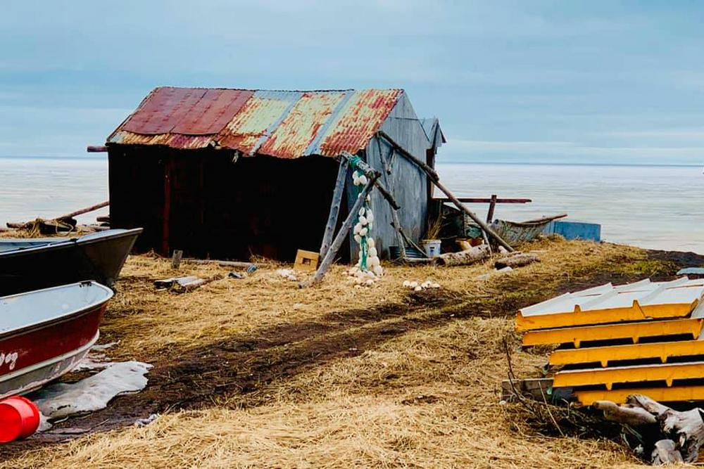 cabin on Alaskan shore