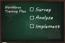 Blackboard reading: Workforce training plan: Survey, Analyze, Implement